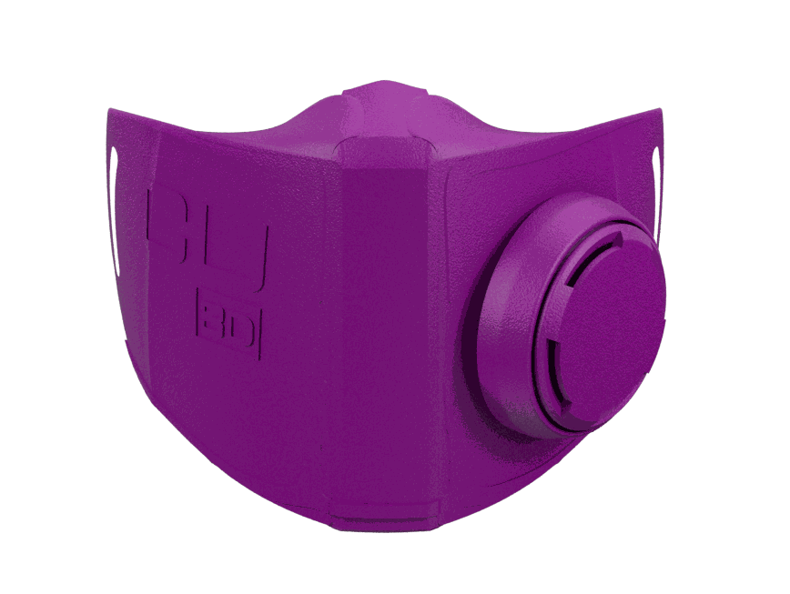Diseño mascarilla impresa en 3D 100%xauto